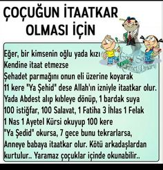 Çocukların itaatkar olması için Islamic Dua, Hadith, Allah, Prayers, Kids And Parenting, Quotes, Boleros, Slipcovers, Fashion
