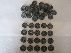 50 Stück Hosenknöpfe 4 Loch,Scwarz/Grau gestreift,Durchmesser ca.20 mm,Neu,Lübecker Knopfmanufaktur von Knopfshop auf Etsy