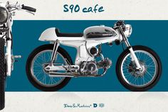 Deus ex Machina Cafe Racer Wooden Bicycle, Bmx Bicycle, Cafe Racer Moto, Cafe Racers, Custom Motorcycles, Custom Bikes, Honda S90, Bicycle Painting, Japanese Motorcycle