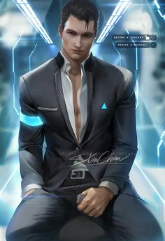Connor (Detroit: Become Human) Image - Zerochan Anime Image Board Luther, Boys Lindos, Sakimichan Art, Bryan Dechart, Quantic Dream, Detroit Become Human Connor, Becoming Human, Human Art, Games