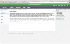 Good Design: Canvas Instructure website. This site is currently being used for my online english class and unlike blackboard it is extremely easy to submit assignments, and then review the feedback that was given as well as grades. Instructional Technology, Educational Technology, Canvas Instructure, Canvas Learning, Technology Integration, English Class, Cool Designs, Management, Writing