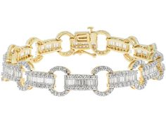 Bella Luce (R) Round And Baguette 18k Yellow Gold Over Sterling Silve