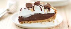No-bake chocolate and peanut butter refrigerated pie on a pretzel crust -- a flavor for everyone.
