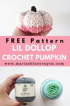 Crochet Fall, Holiday Crochet, Halloween Crochet, Cute Crochet, Crochet Pumpkin Pattern, Crochet Patterns For Beginners, Crochet Patterns Amigurumi, Blue Crayon, Yarn Bee
