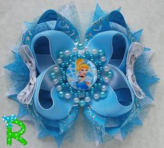 Hey, I found this really awesome Etsy listing at https://www.etsy.com/listing/249345438/cinderella-boutique-hair-bow-princess