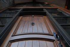 Custom Mahogany door, with 2 sidelights and over-sized transom