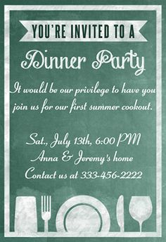Superb A Dinner Party Board   Free Printable Dinner Party Invitation Template Awesome Design
