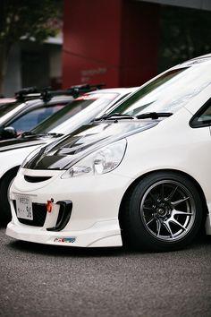 Fit, Hellaflush, Lowering springs, Honda Fit, Japan, Japanese Fit, Cameron Kline Photography