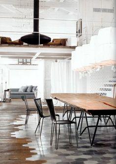 Hex tile into wood floor