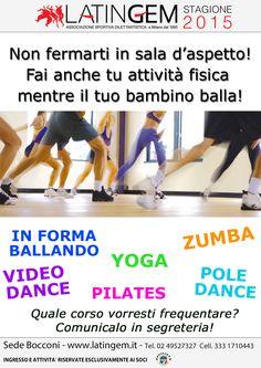 Quale corso vuoi frequentare mentre il tuo bambino balla?