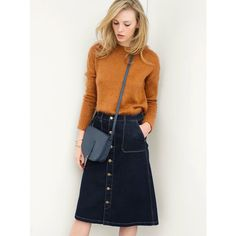 La Redoute online store, FREE Click & Collect for orders over and free returns†. Denim Skirt, Midi Skirt, Feminine Mode, Jeans Rock, Fall Winter, Winter Style, Autumn, Russia, High Waisted Skirt