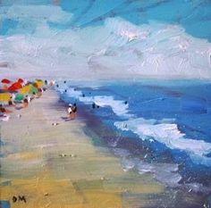 A Little Beach #3-2014, painting by artist Debbie Miller