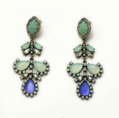Blue Oasis earrings Only $28 at The Pink Pineapple!  pinkpineappleshop.com