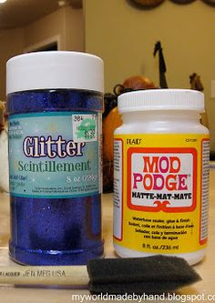 how to mod podge with glitter