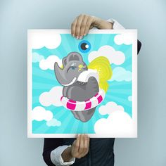 Rhino Print 24x24 now featured on Fab.