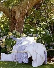 Napping under a tree