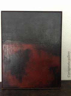 """Untitled #233"" Japanese lacquer painting by Akihiko Sugita.   漆絵画、杉田明彦。#pragmata"