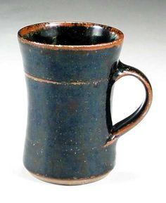 Woodfired stoneware mug  11cm., Ray Finch,  Winchcome Pottery, England.