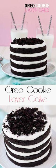 Oreo Cookie Layer Cake