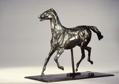Edgar Degas (French, 1834–1917). Horse Trotting, the Feet Not Touching the Ground, modeled after 1878, cast in 1920. The Metropolitan Museum of Art, New York. H.O. Havemeyer Collection, Bequest of Mrs. H.O. Havemeyer, 1929 (29.100.428) #horses