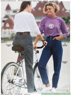 1991 Sears Spring Summer Catalog, Page 41 - Christmas Catalogs & Holiday Wishbooks 80s Fashion, Fashion Outfits, Christmas Catalogs, Mom Jeans, Spring Summer, Style Inspiration, Holiday, Pants, Clothes