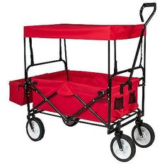 Folding Wagon Canopy Collapsible Cart Garden Utility Outdoor Yard Home Beach New