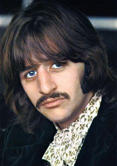 """""""White Album"""" Portrait: Ringo Starr of the rock and roll band """"The Beatles"""" poses for a portrait for an inset in their album 'The White Album' which was released on November 22, 1968. (Photo by Michael Ochs Archives/Getty Images) #TheBeatles #Beatles"""