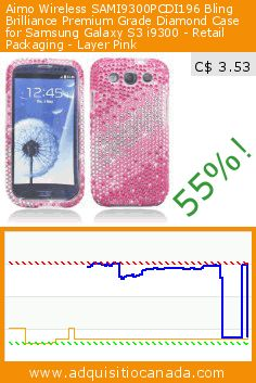 Aimo Wireless SAMI9300PCDI196 Bling Brilliance Premium Grade Diamond Case for Samsung Galaxy S3 i9300 - Retail Packaging - Layer Pink (Wireless Phone Accessory). Drop 55%! Current price C$ 3.53, the previous price was C$ 7.93. https://www.adquisitiocanada.com/samsung/rhinestone-crystal-bling