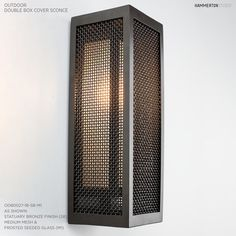 """Outdoor 18""""H Double Box Sconce in Mesh ODB0027-18"""