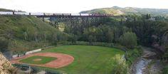 12 foot davis ball park, Peace River, Alberta, Canada....