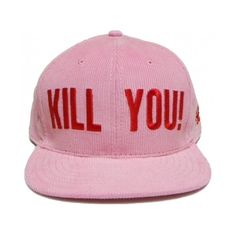 KILL YOU SNAPBACK (791215 BYR) ❤ liked on Polyvore featuring accessories, hats, red snapback hats, stitch hat, snap back hats, red hat and snapback hats