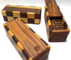 Vintage Dominoes Set in Wooden Box