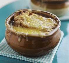 With its thick crust of bubbly melted Gruyere cheese, French onion soup is one of the ultimate comfort foods. Browning the onions slowly is the key to making it.