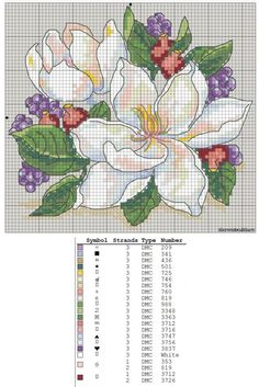 Flower cross stitch                                                                                                                                                      More
