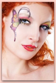 Discover how to create beautiful fairy and butterfly fantasy makeup with gorgeous wings that will stand out at any costume party. Fantasy make up is fun and beautiful!
