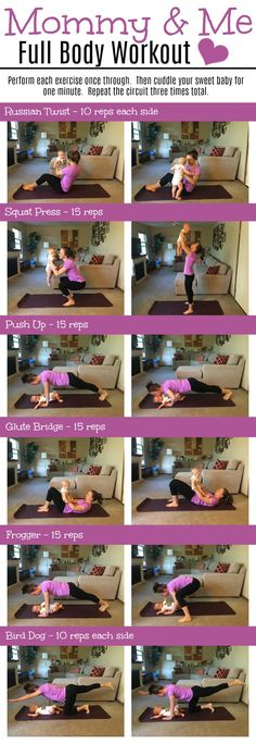 Total body workout that includes your baby!