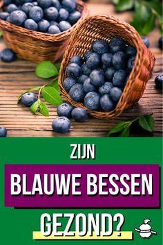 Je hebt vast vaker gehoord dat blauwe bessen gezond zijn. Is dat wel echt zo? Ontdek hier of blauwe bessen écht zo gezond zijn? Blueberry, Beans, Vegetables, Fruit, Food, Berry, Essen, Vegetable Recipes, Meals