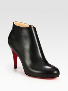 99d2f2f9246a4 Christian Louboutin - Huguette Leather Moto Ankle Boots - Saks.com