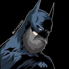 Bearded batman by the one and only @elrokk86 - had you read our interview with Ephremm? Find it on the blog section of http://ift.tt/1Xdr7Wz #beard#beards#batman#GABC#elrokk86