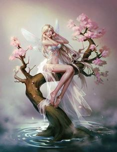 Fantasy Girl Art and Visit the link to watch Full Anime Fantasy, Dark Fantasy Art, Fantasy Girl, Fantasy Artwork, Elfen Fantasy, Fantasy Kunst, Fantasy Art Women, Beautiful Fantasy Art, Beautiful Fairies
