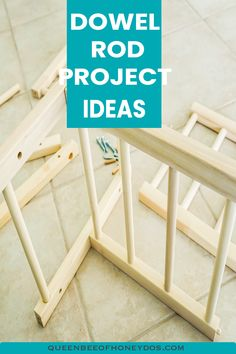 Amazing projects that can be done using dowel rods. Perfect organization projects and some make wonderful gifts. Perfect for beginning woodworkers or just for something easy! Woodworking Bench For Sale, Woodworking Hand Tools, Beginner Woodworking Projects, Woodworking Magazine, Custom Woodworking, Woodworking Furniture, Diy Projects For Beginners, Easy Wood Projects, Wood Working For Beginners