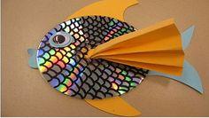 Reciclaje: un lindo pececito con CDs