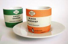Penguin Books espresso cups