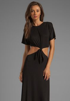 957k NAVEN Casuals Knotted T Maxi Dress in Black at Revolve Clothing - Free Shipping!
