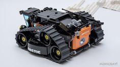 Arctic track carrier by MiniGray! Lego Spaceship, Lego Robot, Lego Army, Lego Military, Legos, Lego Track, Lego Wheels, Lego Mechs, Lego Modular