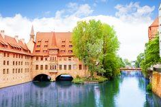 5 cidades incríveis para se conhecer na Alemanha - Vista do rio da ponte Fleisch Pegnitz  Copastur Prime