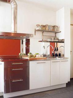 tubo extracción visto Cocina Office, Sweet Home, Interior Design, Ark, Kitchen, Home Decor, Kitchen Hoods, Decorating Kitchen, Small Condo