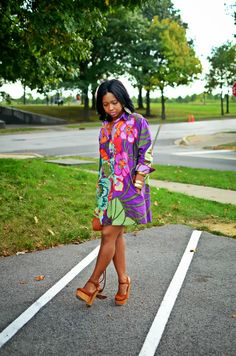 "This colorful thrifted dress is so adorbs! ""Sweenee Style"""