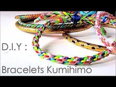 DIY : comment faire des bracelets avec la technique de kumihimo / kumihimo patterns - YouTube