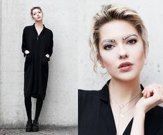 Get this look: http://lb.nu/look/7985584  More looks by Ebba Zingmark: http://lb.nu/ebbaz  Items in this look:  Sofie By Sofie Jewellery, Jane Koenig Necklace, Young Hungry Free Coat/Dress, Urban Outfitters Shoes   #artistic #edgy #minimal